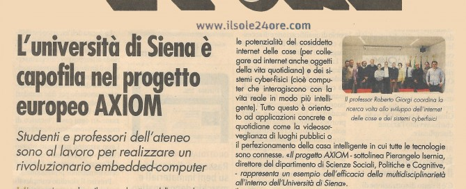 AXIOM Project on Il Sole 24 Ore